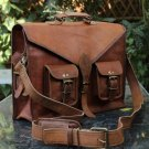 Satchel Messenger Goat Leather Bag laptop Breifcase