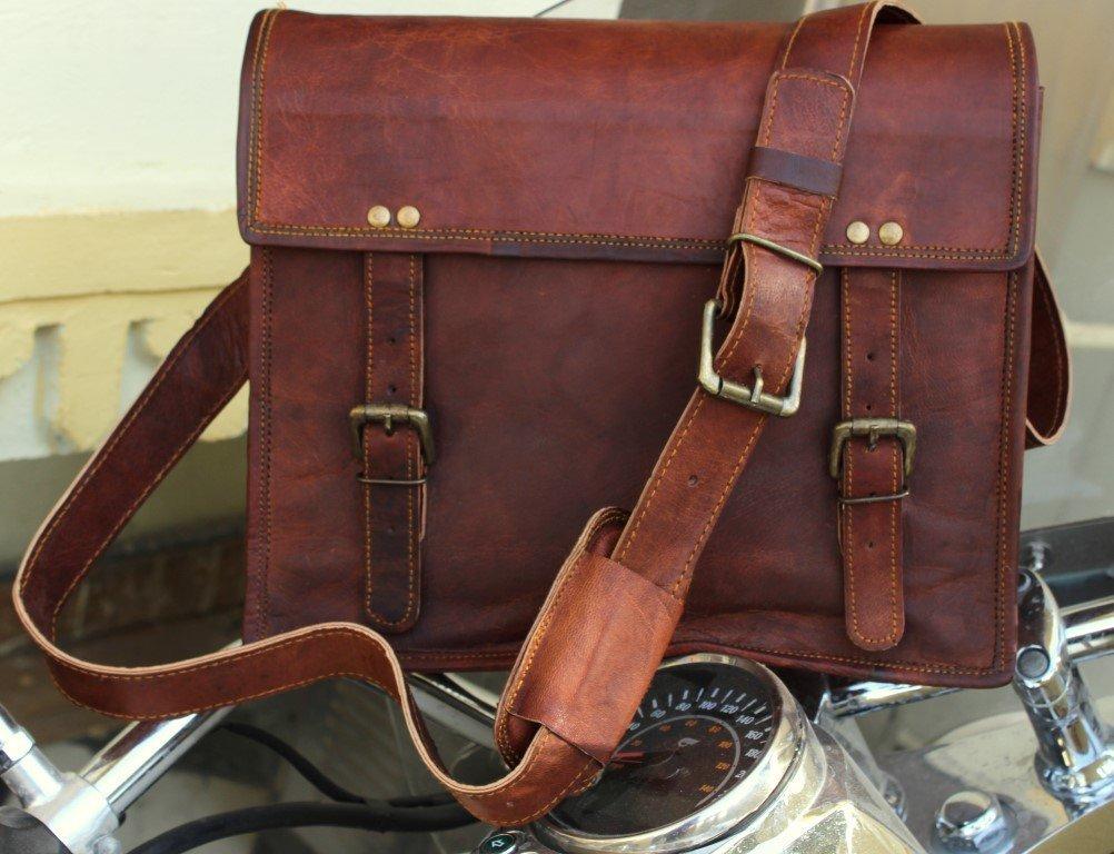 Genuine Men's Auth Real Leather Messenger Laptop Briefcase Satchel Mens Bag