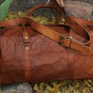Real Goat Leather Square Duffle Travel Bag Unisex Bag