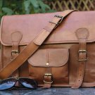 Classic Adult Unisex Cross Shoulder 100% Genuine Leather Messenger/Laptop/Briefcase Bag