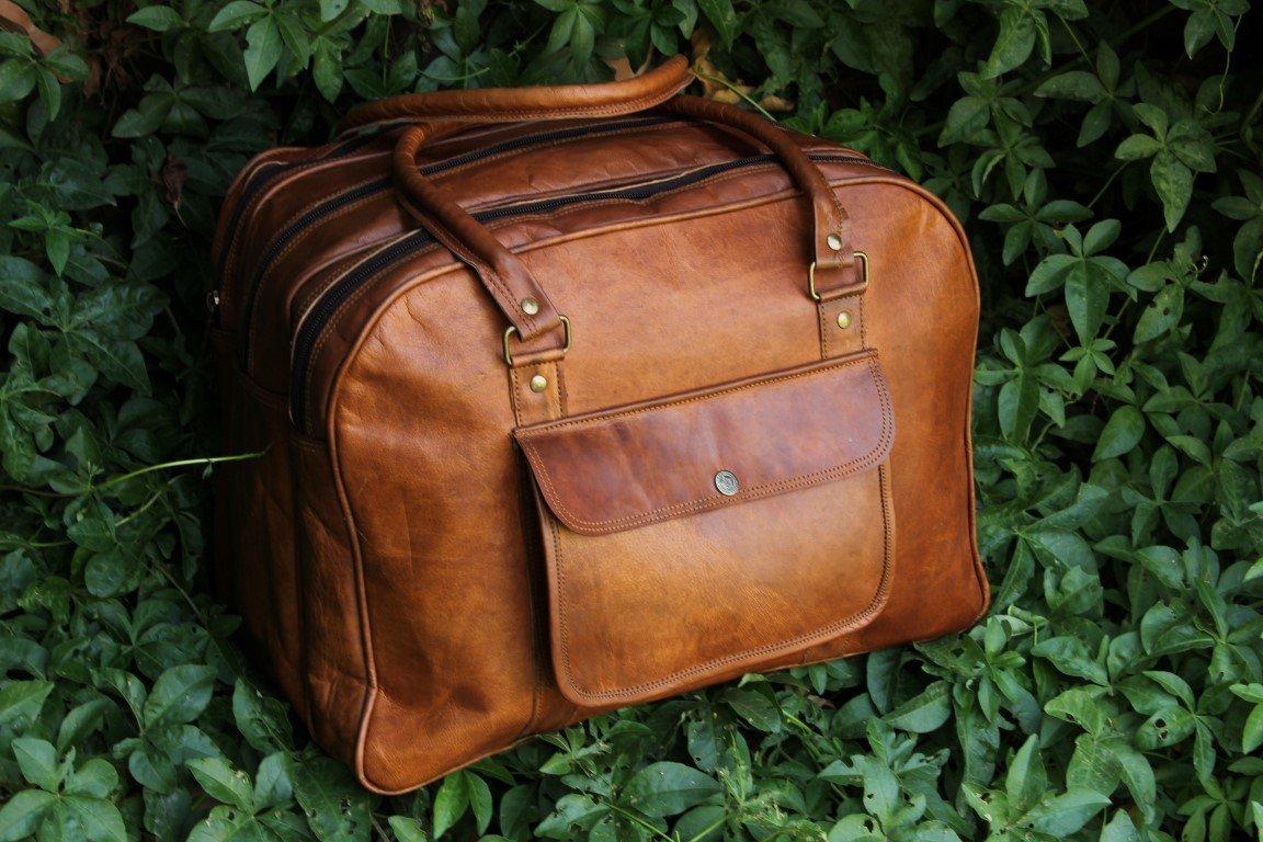 Duffel Travel Gym Sports Overnight Weekend Leather Bag. Yoga Bag