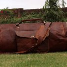 GENUINE LEATHER HANDMADE DUFFEL BAG/TRAVEL/CABIN/GYM/SHOULDER CUM CROSSBODY/SPORTS/LUGGAGE/BAG