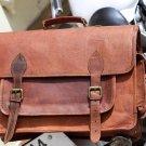 Genuine Leather Messenger Satchel Camera Bag Breifcase