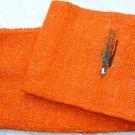 Southwestern Mexican baja blanket yoga blanket pilates blanket orange outback