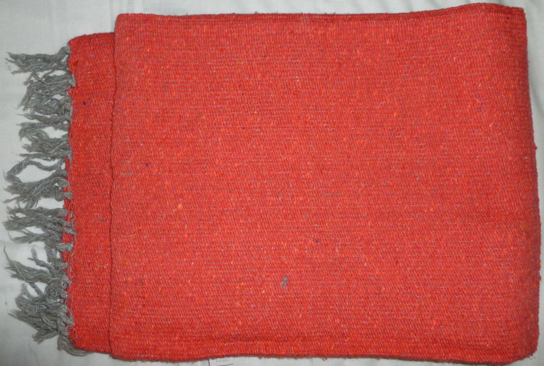 Southwestern Mexican Large serape blanket pilates blanket Solid Pink Color