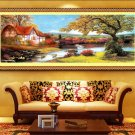 New 2015 5D Lodge House Embroidered Diamond Round Crystal Diamond  DIY Painting
