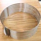 24-30 CM Retractable Round Telescopic Cake Adjustable Circular Layered Ring