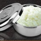 """Hot Sale! 5"""" Food Bowl Silver Stainless Steel With Lid Cold/Warm Basin Rice Bowl"""