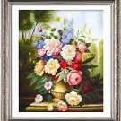 New 5D Embroidered Diamond Drill Stick Crystal Round Diamond DIY Painting Flower