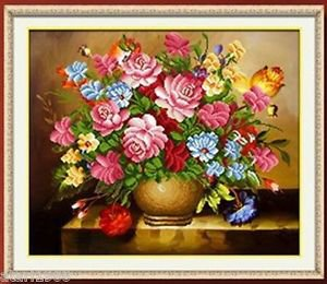 5D Round/Square Full Crystal Diamond Drill DIY Embroidery Painting Flowers 720#