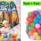 New PlayTent+Pad+50 Balls Kid Tent Children Forest Owl Play House For Boys&Girls