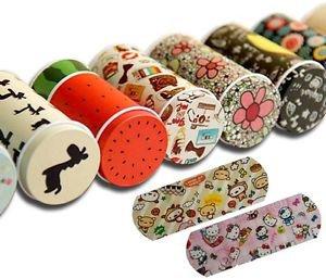 4 x Tins Cute Cartoon Design Waterproof Band Aid Tin Box First Aid Bandage Gift