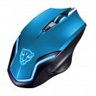 COLOR BLUE Leopard Gaming Mouse F61 Wired USB Game Ergonomic Mice Notebook PC Laptop