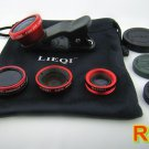 4in1 Super Wide-Angle Lens Fisheye Macro Effect CPL Filter for Cell Phone Camera