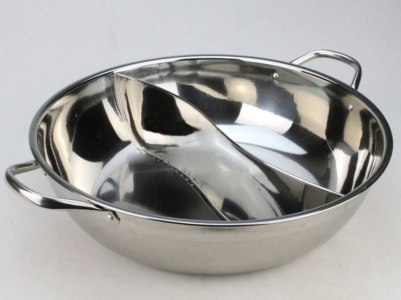 30 CM 304 STAINLESS STEEL Pot Mandarin Duck S-Pan Thick Cooker Pot Bowl