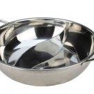 32 CM 304 STAINLESS STEEL Pot Mandarin Duck S-Pan Thick Cooker Pot Bowl