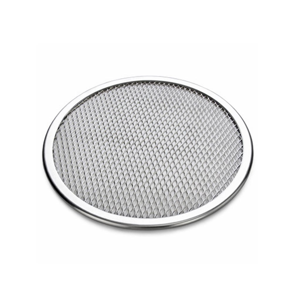16 Inch Aluminum Flat Mesh Pizza Screen Round Baking Tray Net Kitchen Tool #524948990525