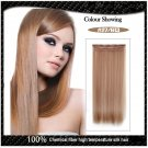 COLOR#27/613 Five Card Hairpiece 120g High Temperature Wire Synthetic Straight Hair Extension