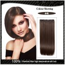 COLOR #4 Five Card Clip-on Hairpiece 120g High Temperature Wire Synthetic Straight Hair Extension