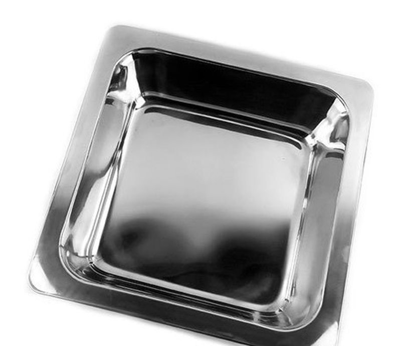 33CM Stainless Steel Thick Square Fondue Pots Duck Hot Pan Grid Soup Pot (Broth)
