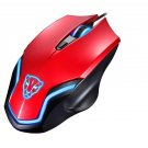 COLOR RED Leopard Gaming Mouse F61 Wired USB Game Ergonomic Mice Notebook PC Laptop
