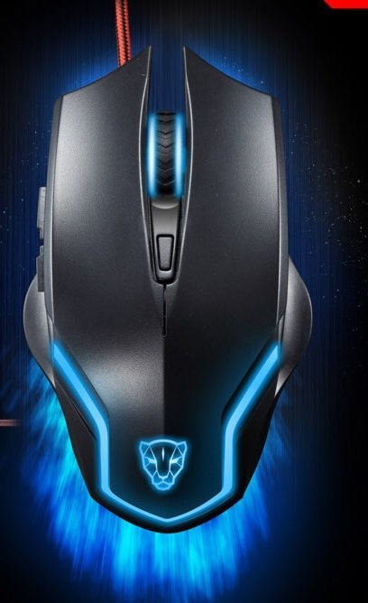 COLOR BLACK Leopard Gaming Mouse F61 Wired USB Game Ergonomic Mice Notebook PC Laptop
