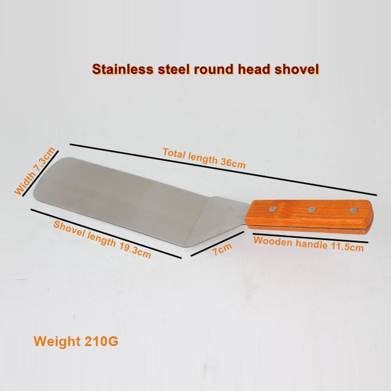36CM Long Stainless Steel Pizza Pie Blade Shovel