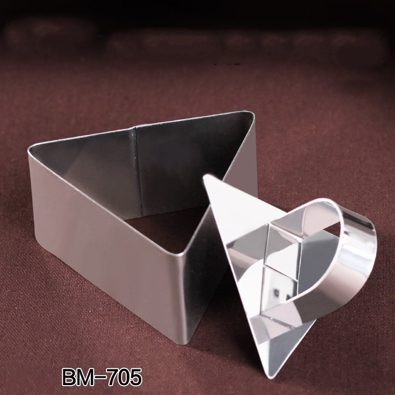 Triangle Stainless Steel Mousse Cake Ring Cookie Cutter Biscuit Mold Cake Mold