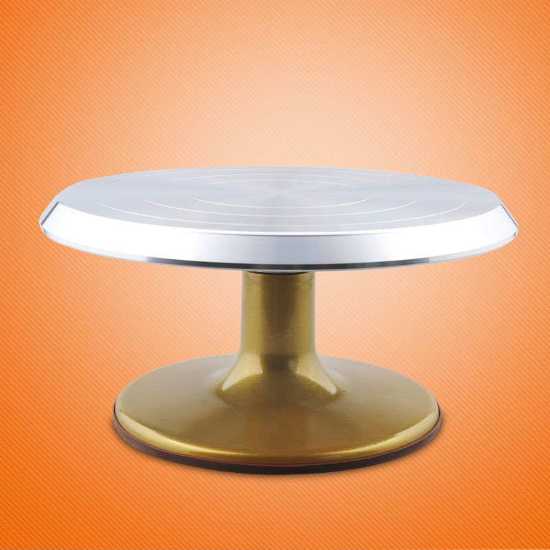Color Gold Professional Cake Decorating Aluminum Alloy Turntable