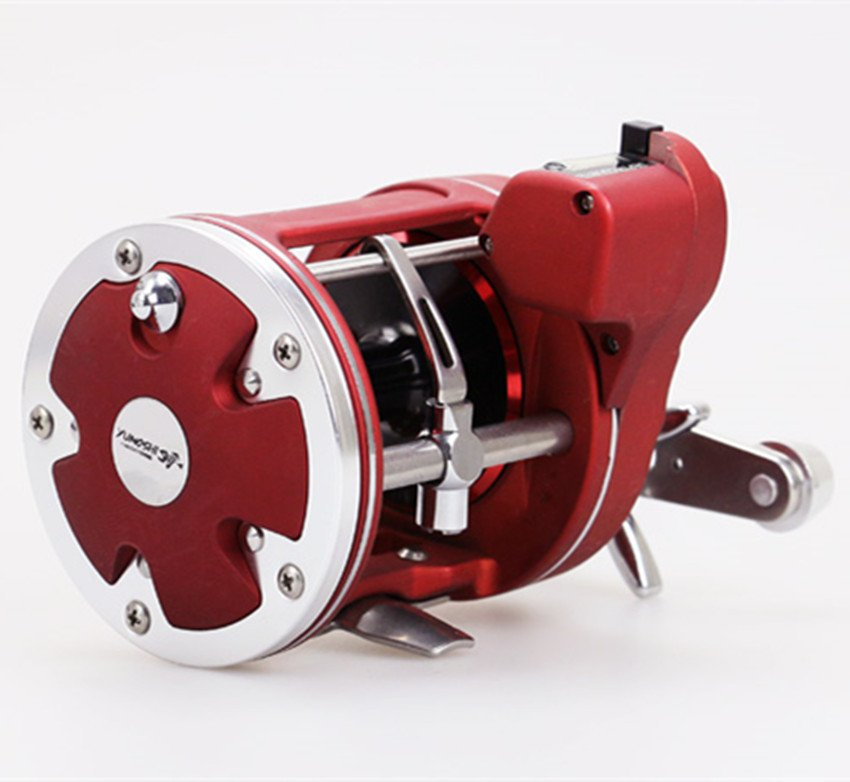 AC600-50D Fishing Reel Tape Counter Drum Baitcasting Fishing Reel Line Counter Saltwater Trolling