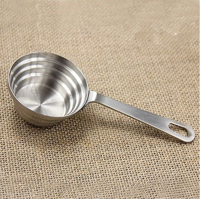 304 Stainless Steel Measuring Cup Spoon with Scales Amount For Baking Coffee Wine Tea Kitchen Tool