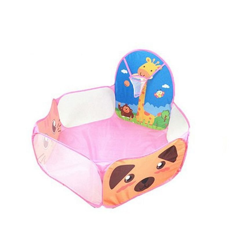 Pink Home Garden Kids Play Tent Children Basketball Pool Game birthday Gift