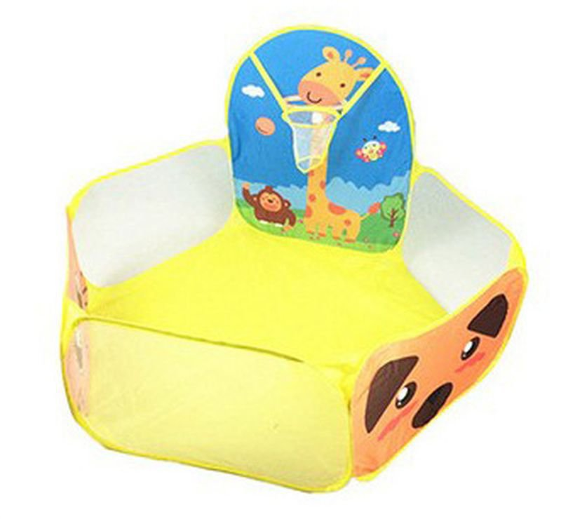 Yellow Home Garden Kids Play Tent Children Basketball Pool Game birthday Gift