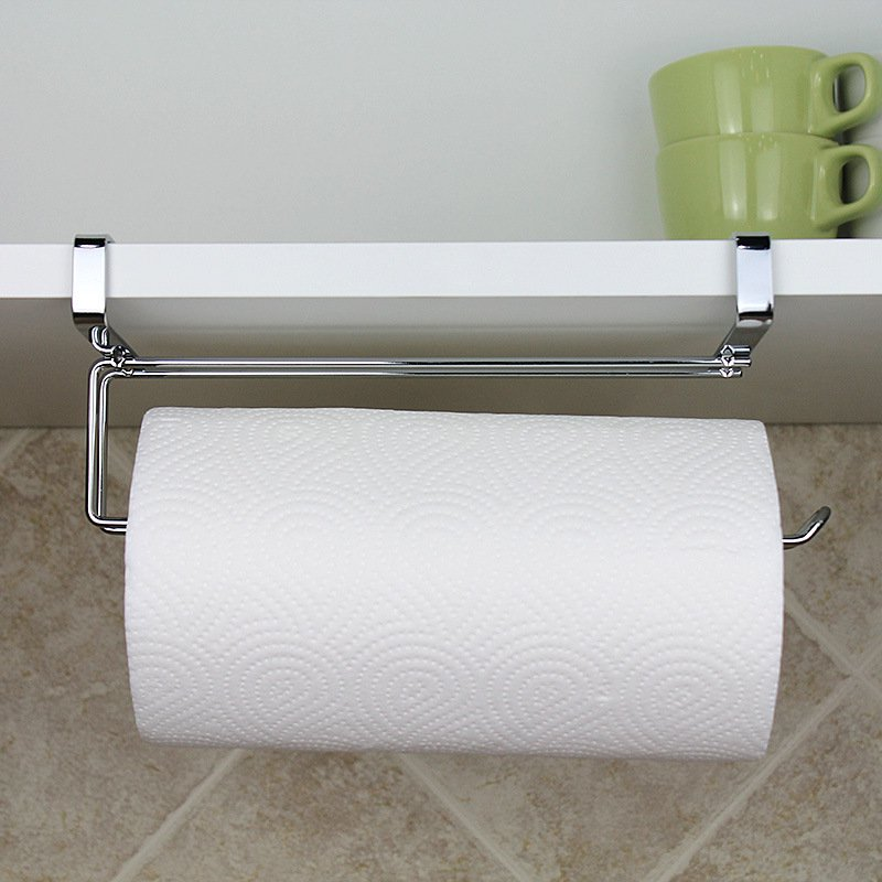 Stainless Steel Toilet Roll Paper Under Shelf Kitchen Towel Holder Tissue Rack