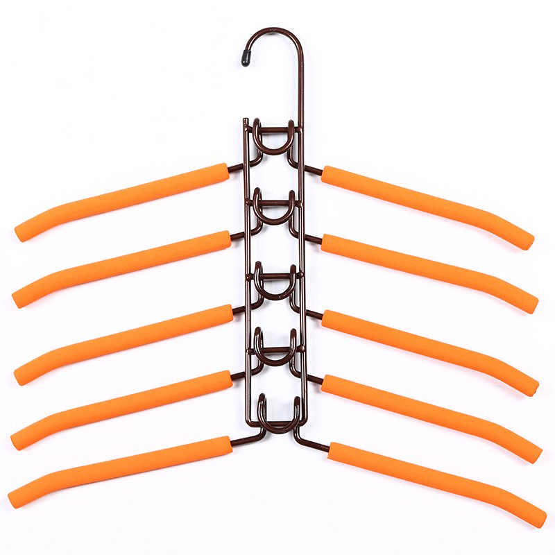COLOR BRONZE Anti-Slip Multi-Layer 5 Hanger Shirt Holder Jacket Rack
