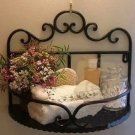 Black Wrought Iron Bathroom Toilets Shelf Decoration Flowers Soup Rack Wall-Mounted