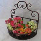 BRONZE Wrought Iron Bathroom Toilets Shelf Decoration Flowers Soup Rack Wall-Mounted