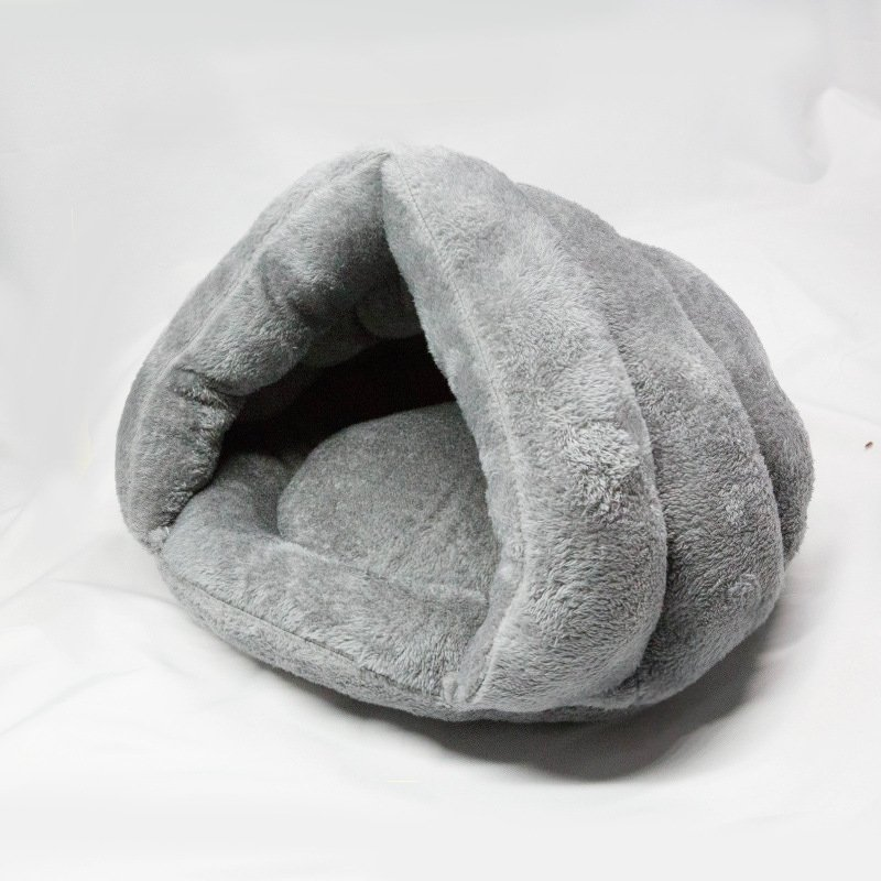 50x40CM Grey Portable Pet Sleeping Bag Cat Dog Kennel Puppy Nest Large Triangle litter House