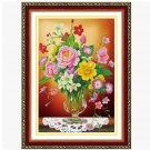 DIY Flowers 5D Full Diamond Painting Resin Drill Canvas Embroidery Crystal Draw