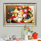 80x52CM 5d Full Diamond Painting Embroidery Restaurant Sticker Diamond Cross Stitch Vase