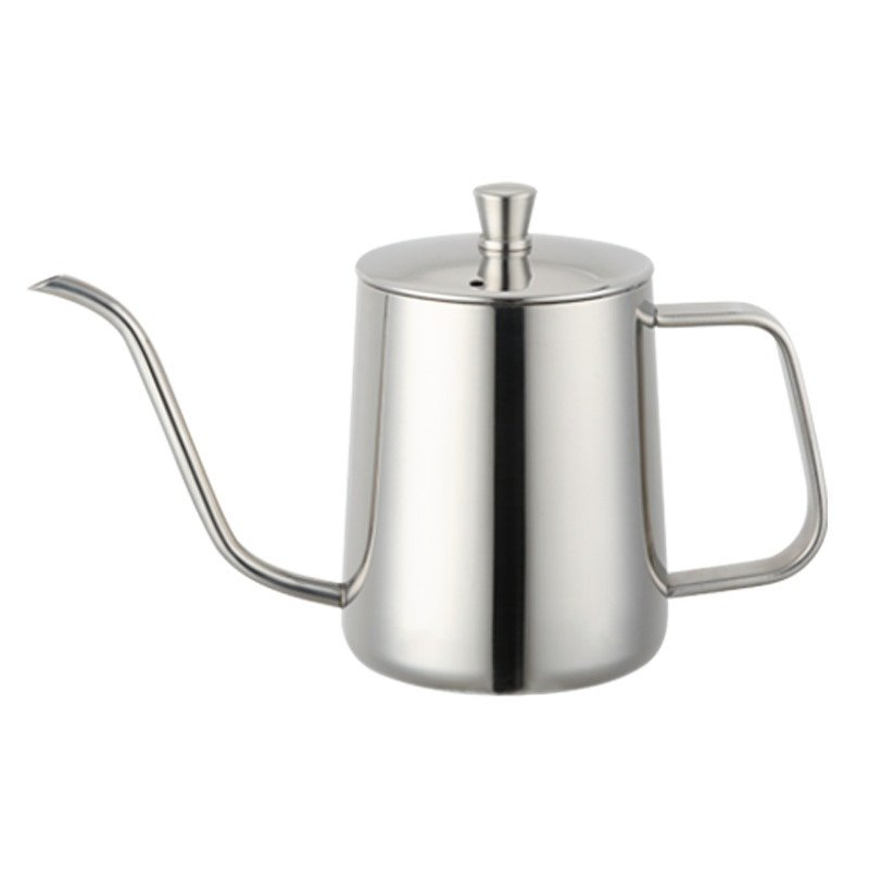 Silver 2pcs/set Coffee Teapot 304 Stainless Steel Fine Long Mouth Small Spout