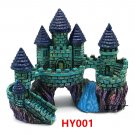 HY001 Aquarium Decoration Gift Fish Tank Decor Resin Ornament Bridge Castle