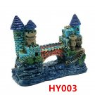 HY003 Aquarium Decoration Gift Fish Tank Decor Resin Ornament Bridge Castle