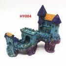 HY004 Aquarium Decoration Gift Fish Tank Decor Resin Ornament Bridge Castle