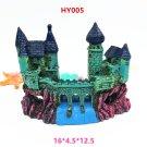 HY005 Aquarium Decoration Gift Fish Tank Decor Resin Ornament Bridge Castle