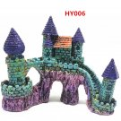 HY006 Aquarium Decoration Gift Fish Tank Decor Resin Ornament Bridge Castle