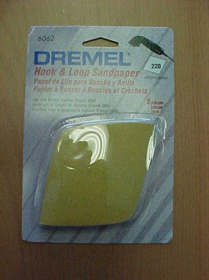 TL-D6062 5pk. Dremel Hook & Loop Sandpaper, 220 Grit