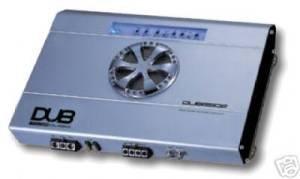 Cds-Audiobahn DUB2502 2-Channel 500 Watts Max Car Amplifier-DUB2502