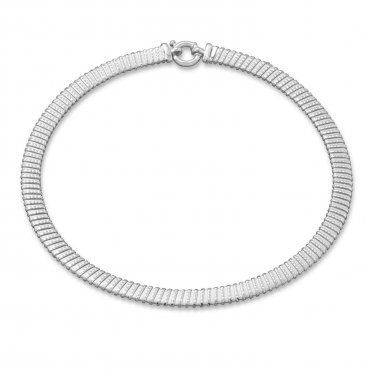 Women's Sterling Silver Tubogas Necklace