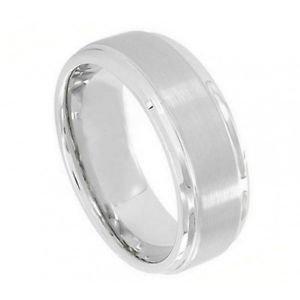 Men's Cobalt Wedding Band Ring with Satin Finish